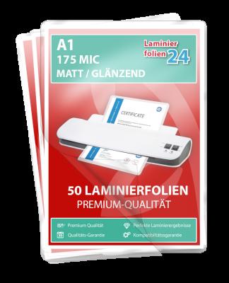 Laminierfolien A1, 2 x 175 Mic, matt/glänzend - 50er Pack