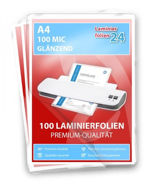 Laminierfolie_A4_2 x 100 Mic_glaenzend_100 stueck