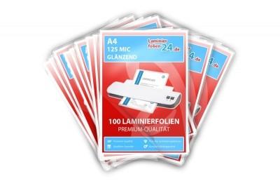 """""""Mega Paket"""" 1000 Laminierfolien - A4, 2 x 125 Mic, glänzend"""
