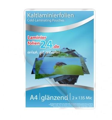 Kaltlaminierfolien A4, 2 x 150 Mic, glänzend (225 x 312 mm) - Minipack
