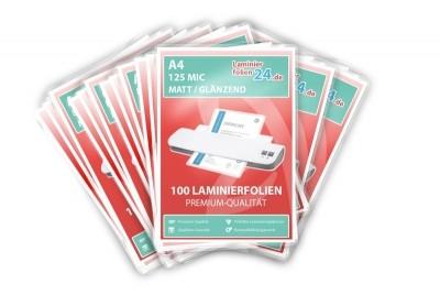 """""""Mega Paket"""" 1000 Laminierfolien - A4, 2 x 125 Mic, matt / glänzend"""