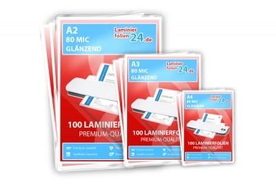 Mix Paket - A2, A3, A4 - 80 Mic, glänzend