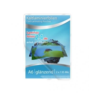 Kaltlaminierfolien A6, 2 x 150 Mic, glänzend (117 x 160 mm)