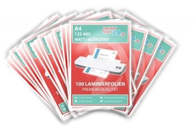 """""""Mega Paket"""" 2000 Laminierfolien - A4, 2 x 125 Mic, matt / glänzend"""