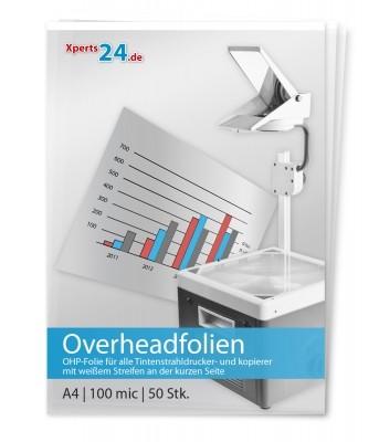 Overhead-Folien für Tintenstrahlkopierer und drucker s/w und farbig DIN A4