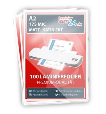 Laminierfolien A2, 2 x 175 Mic, matt