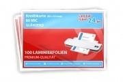 Laminierfolien Kreditkarte (54 x 86 mm), 2 x 80 Mic, glänzend