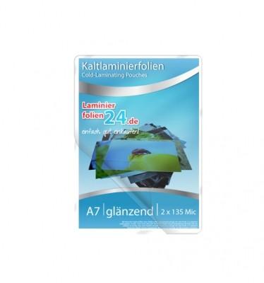Kaltlaminierfolien A7, 2 x 150 Mic, glänzend (86 x 117 mm) - Minipack